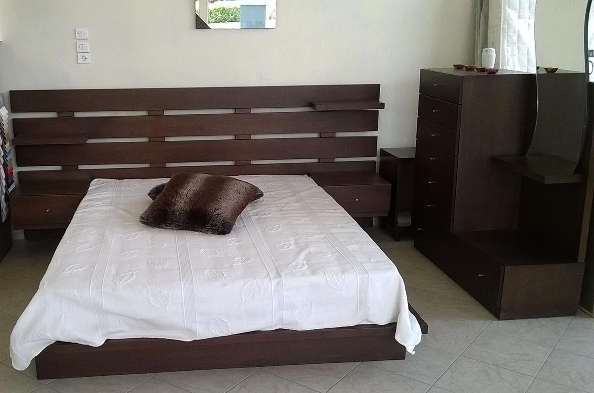 Κρεβάτι με πρωτότυπο κεφαλάρι