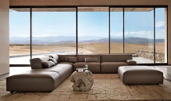 Καμπυλωτό γωνιακό σαλόνι