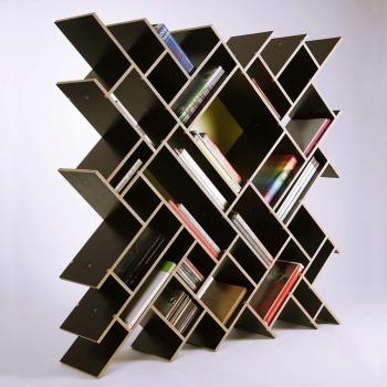Βιβλιοθήκη  με διαγώνιο δέσιμο