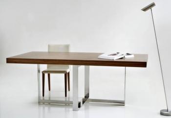 Μοντέρνο τραπέζι με νίκελ πόδια